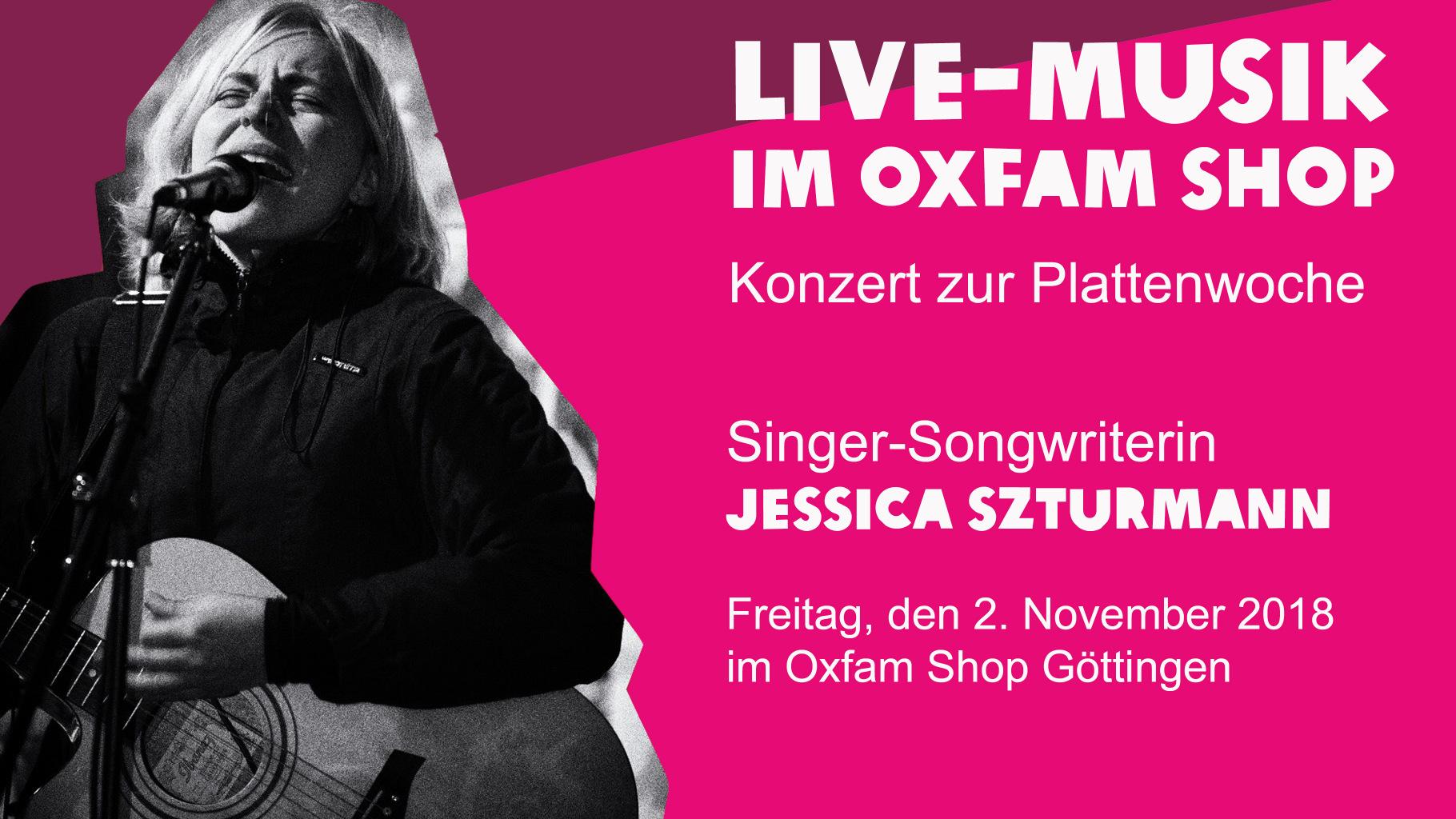 Live-Musik im Oxfam Shop Göttingen Jessica Stzurmann