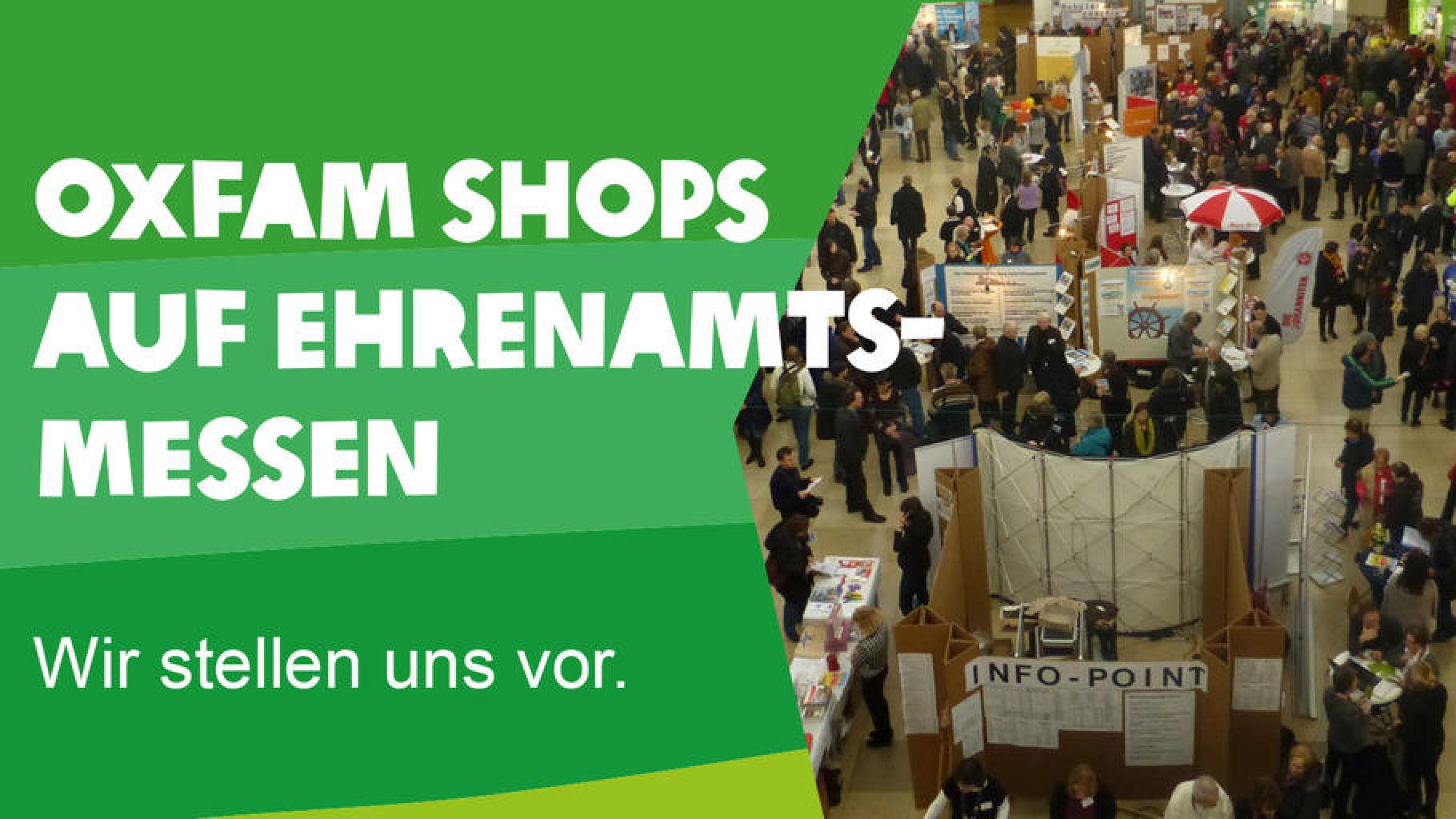 Oxfam Shops auf Ehrenamtsmessen