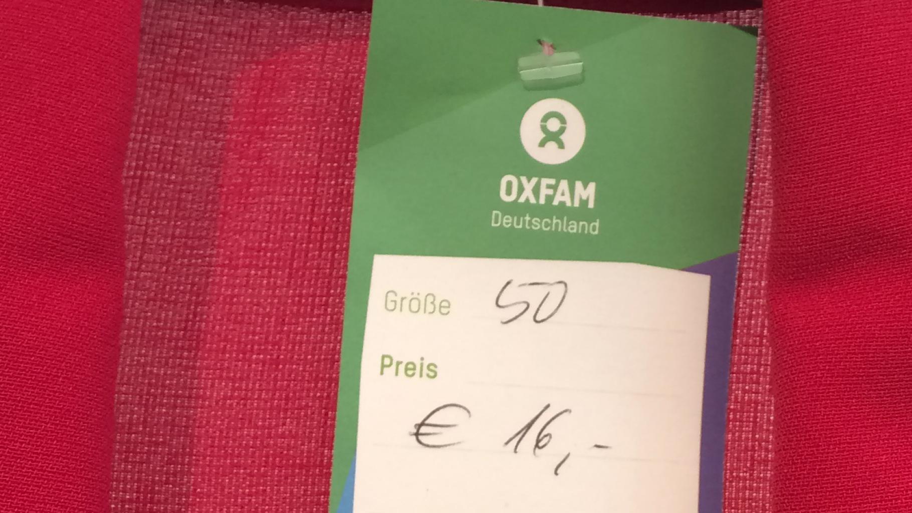 Große Größen im Oxfam Shop
