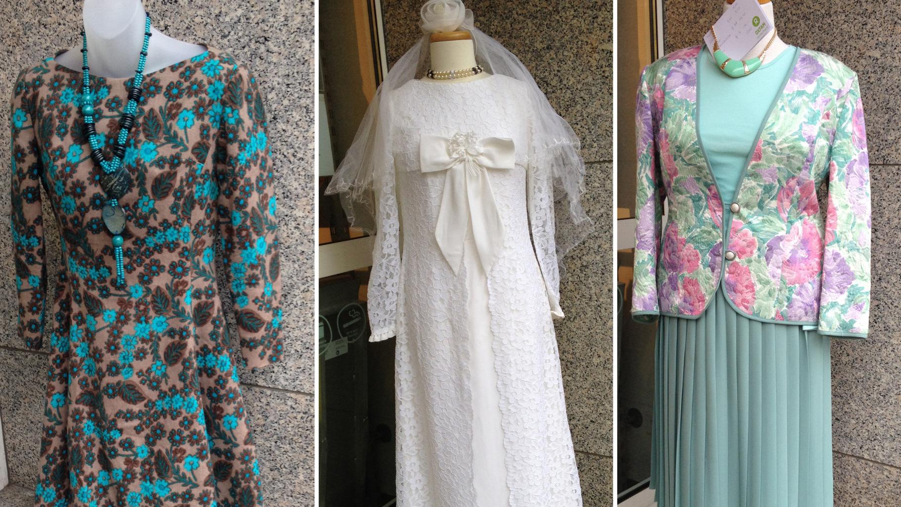 Vintage-Kleidung im Oxfam Shop