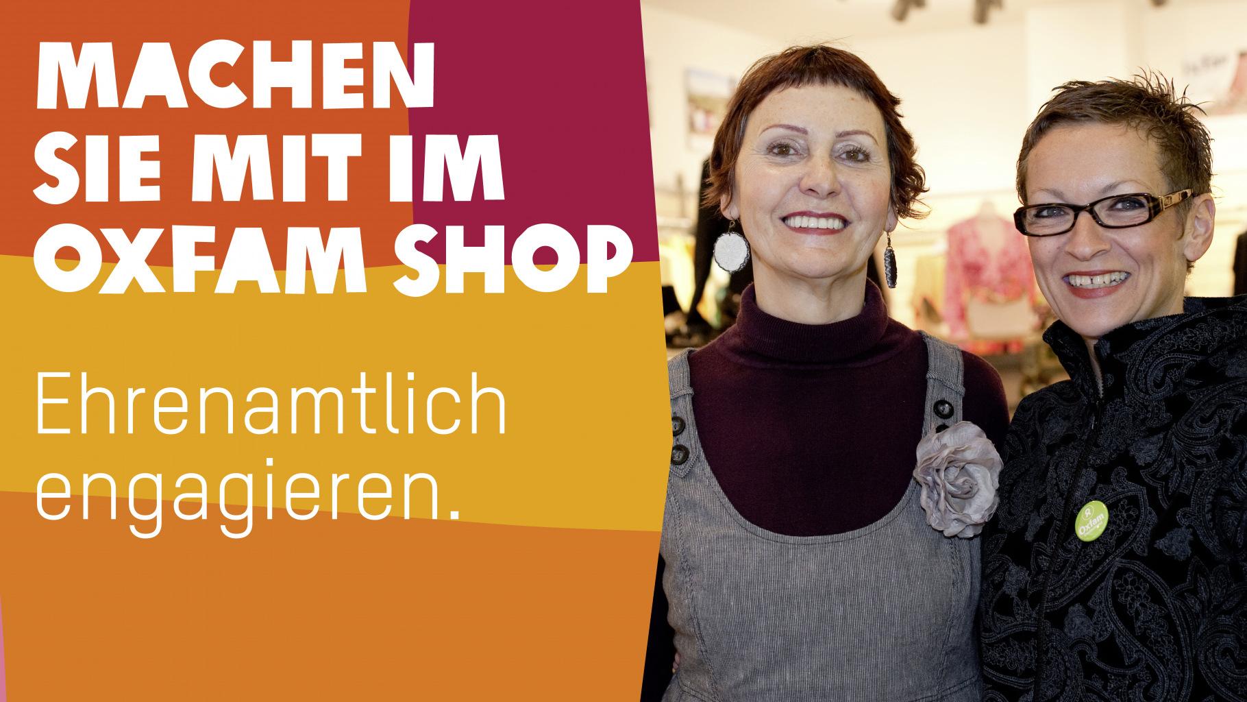 Ehrenamlich im Oxfam Shop mitmachen