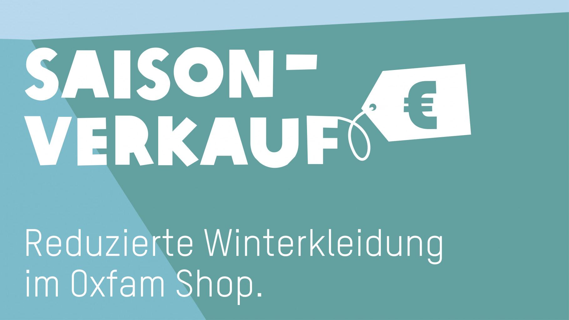 Rabatt beim Winter-Saisonverkauf in den Oxfam Shops