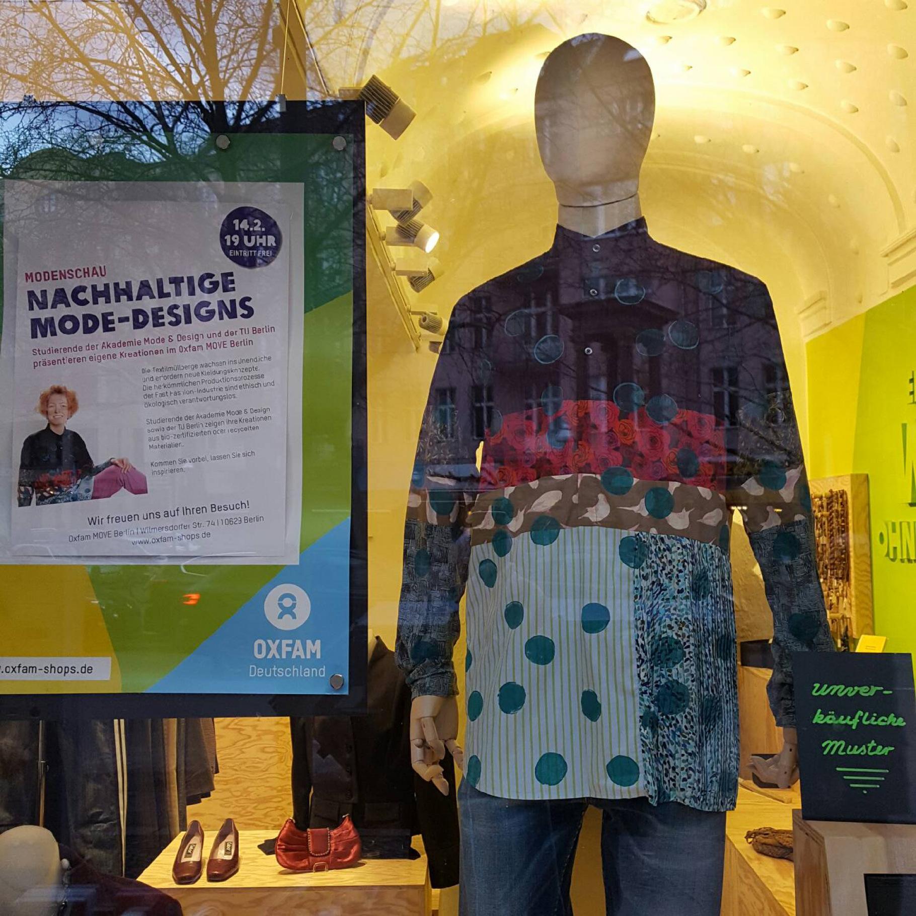 """Entwurf für die Modenschau """"Nachhaltige Mode-Designs im Oxfam MOVE Berlin"""