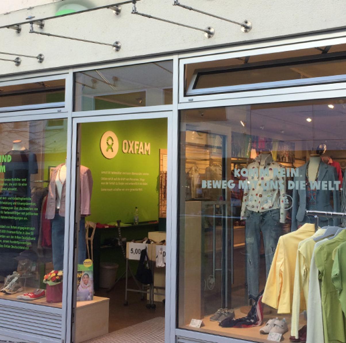 Oxfam Shop Ulm - Außenansicht