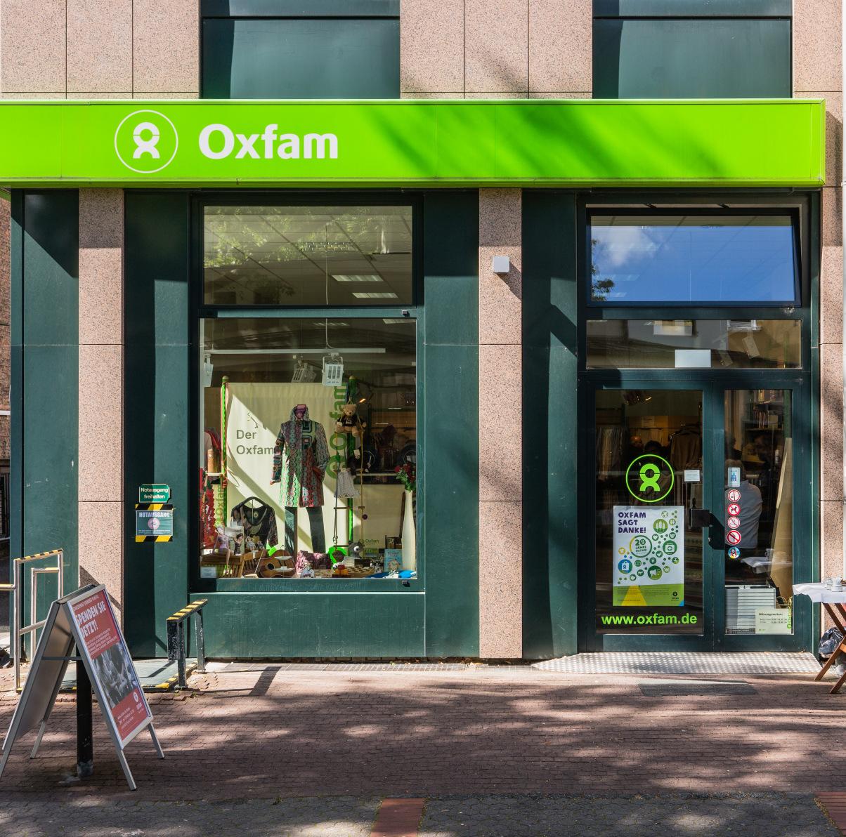 Außenansicht vom Oxfam Shop Frankfurt-Bornheim