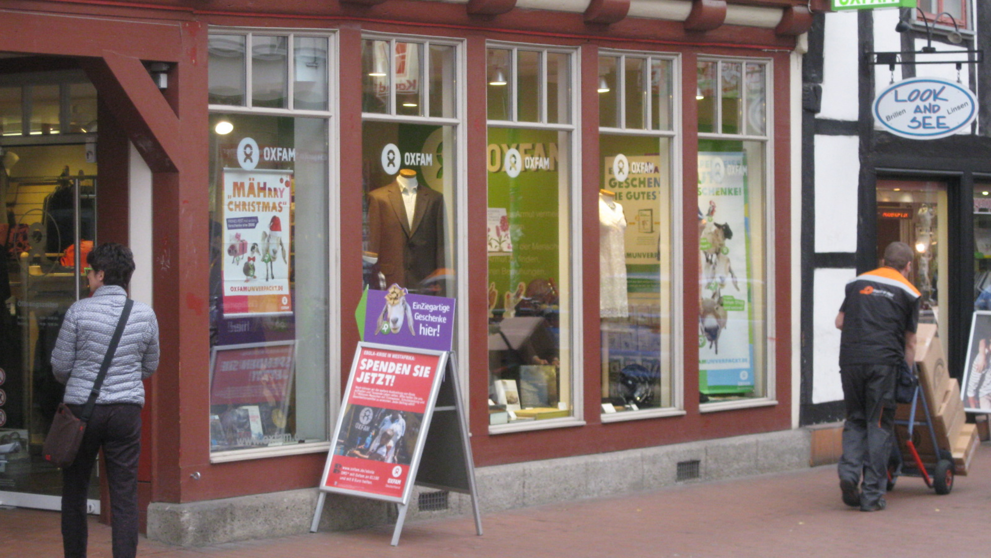 Oxfam Shop Göttingen - Außenansicht