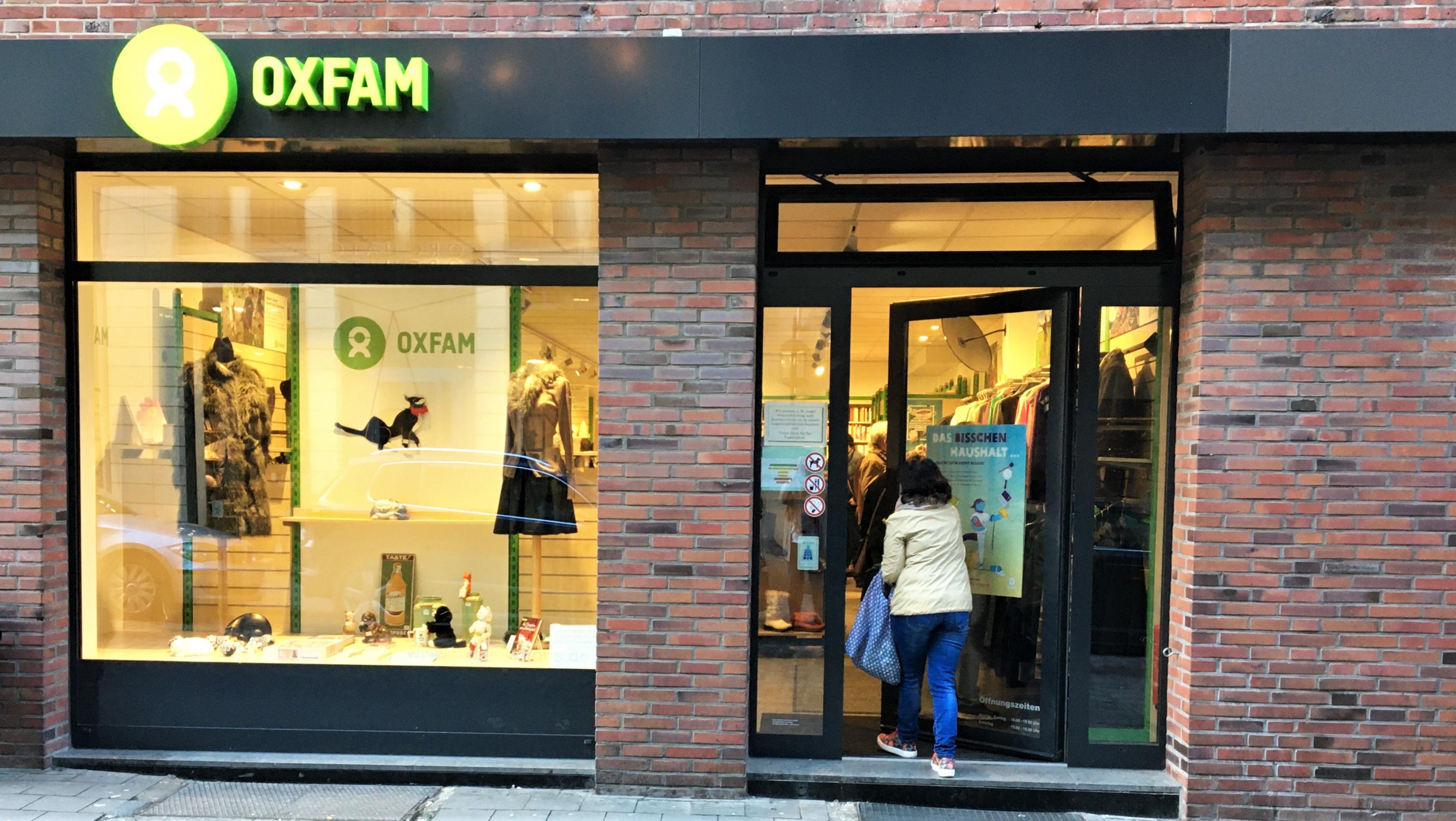 Oxfam Shop Münster - Außenaufnahme
