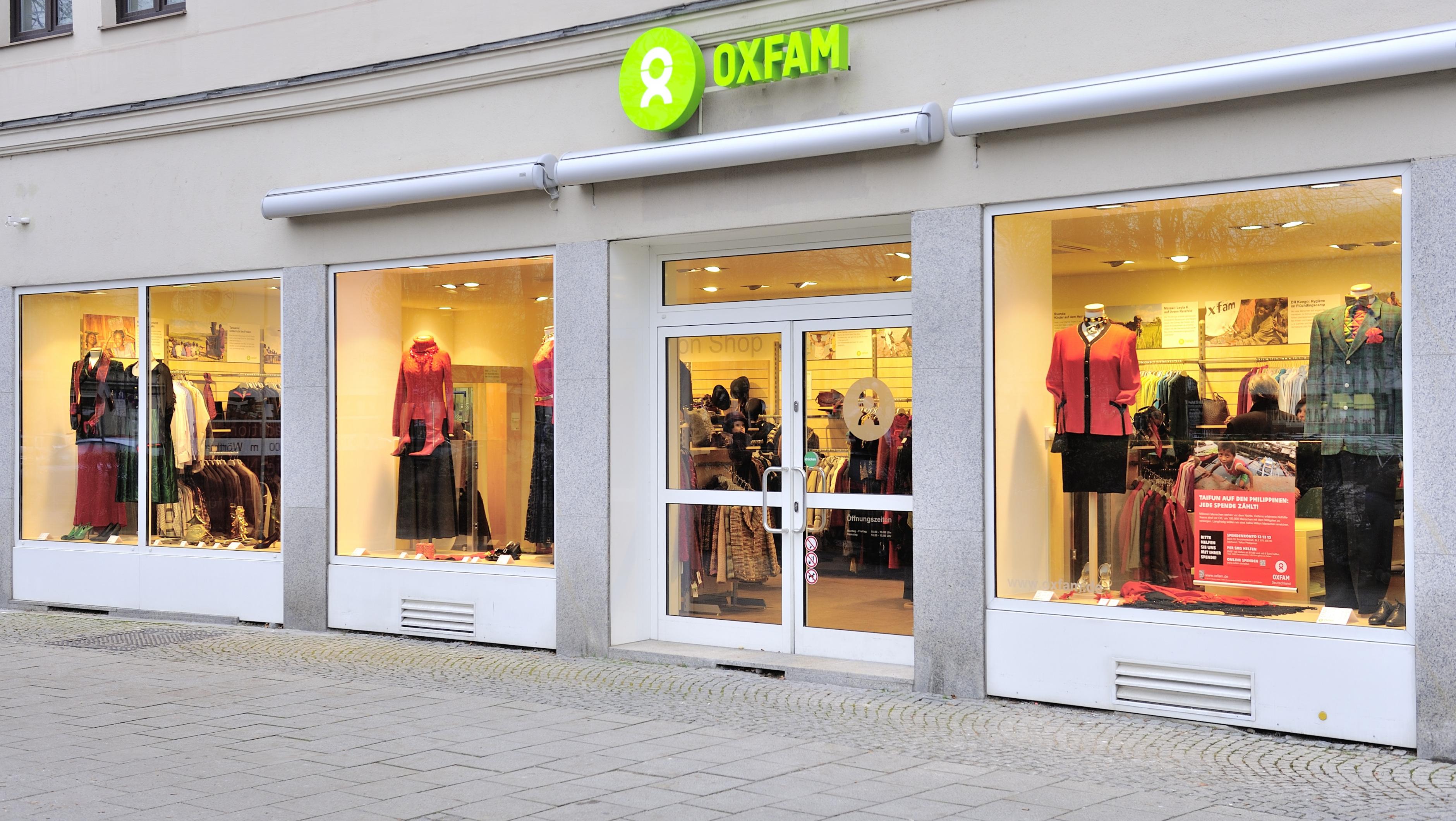 Oxfam Fashionshop München - Außenansicht