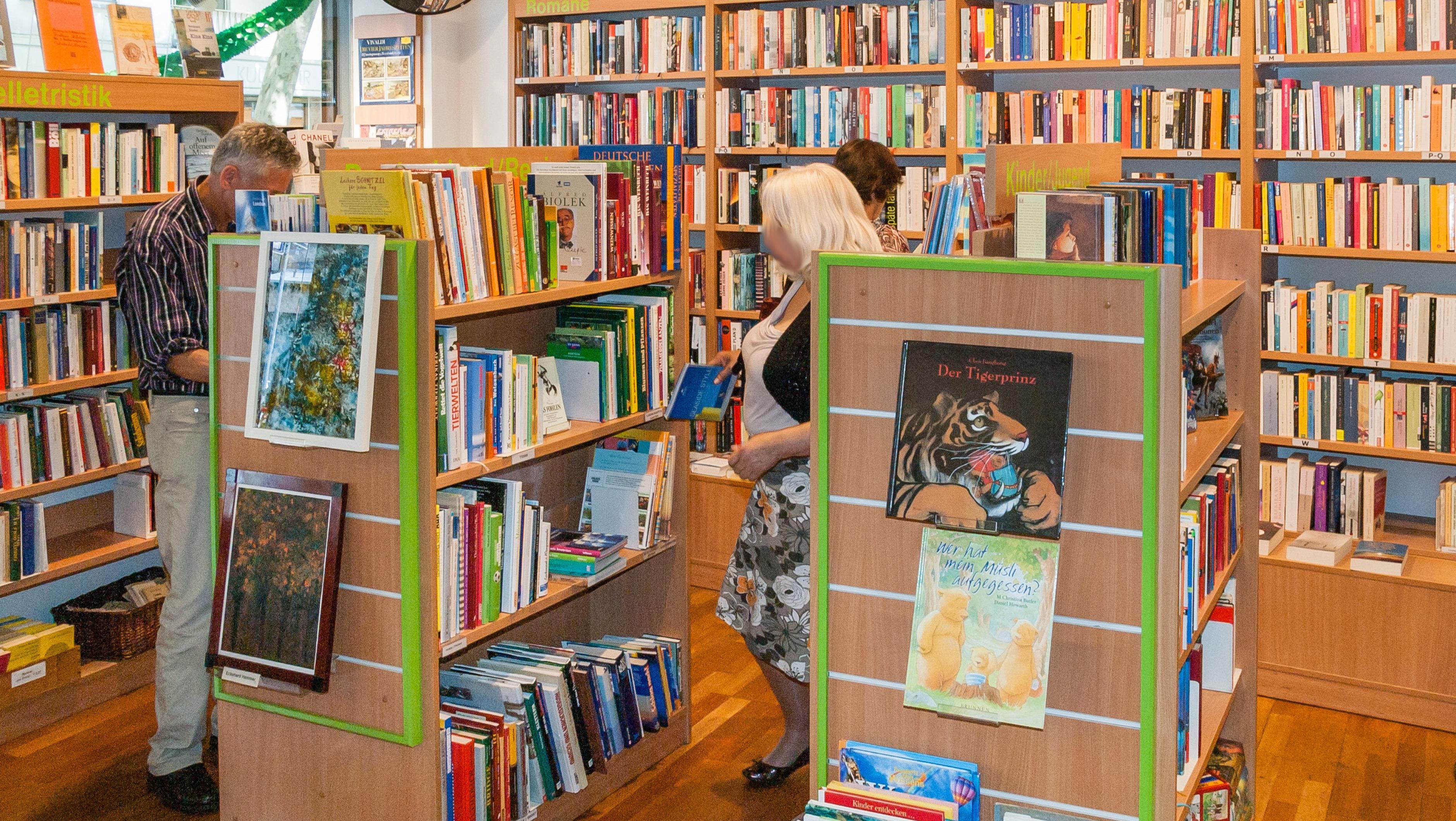 Oxfam Buchshop Frankfurt - Innenansicht