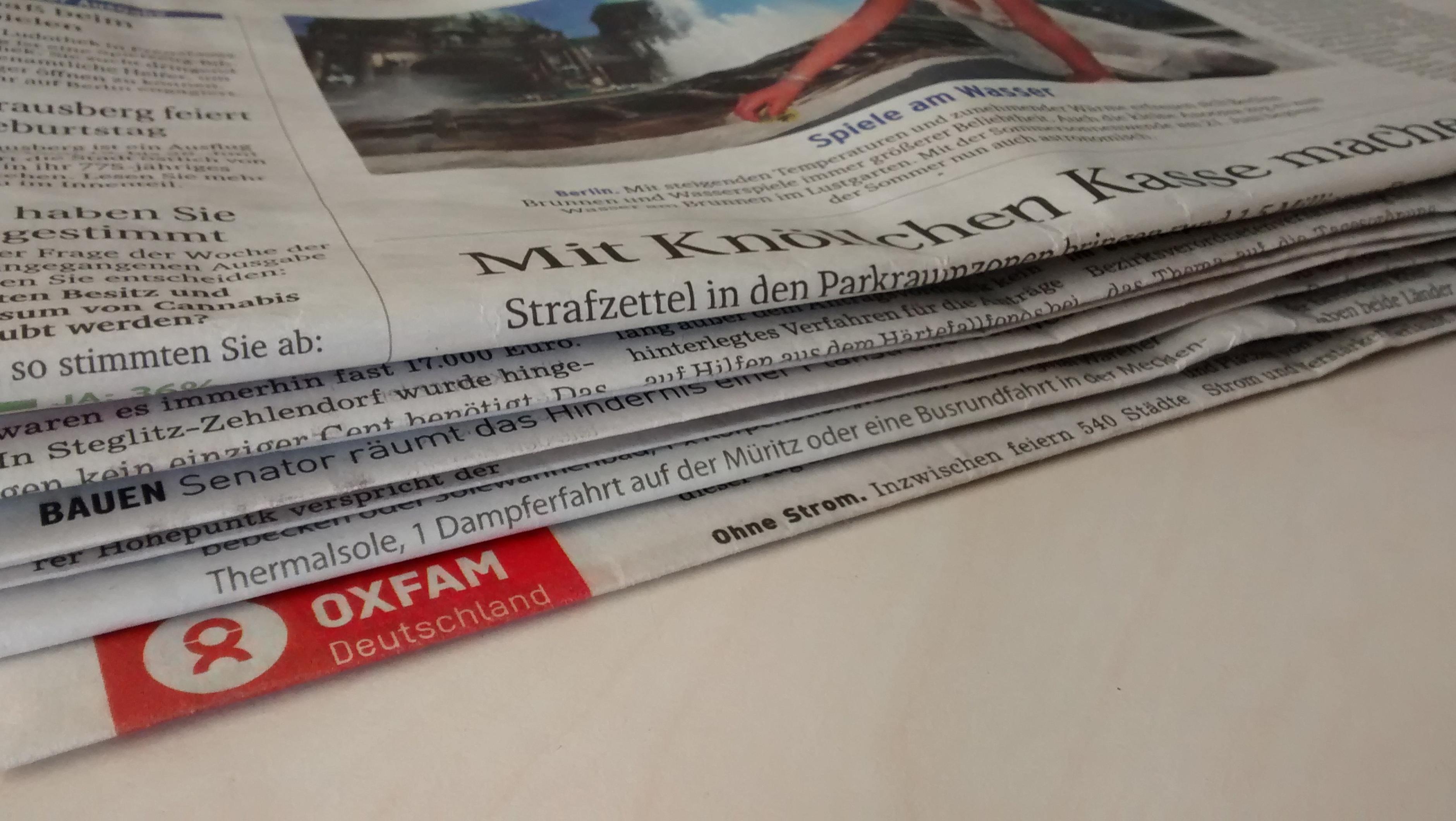 Oxfam in der Presse