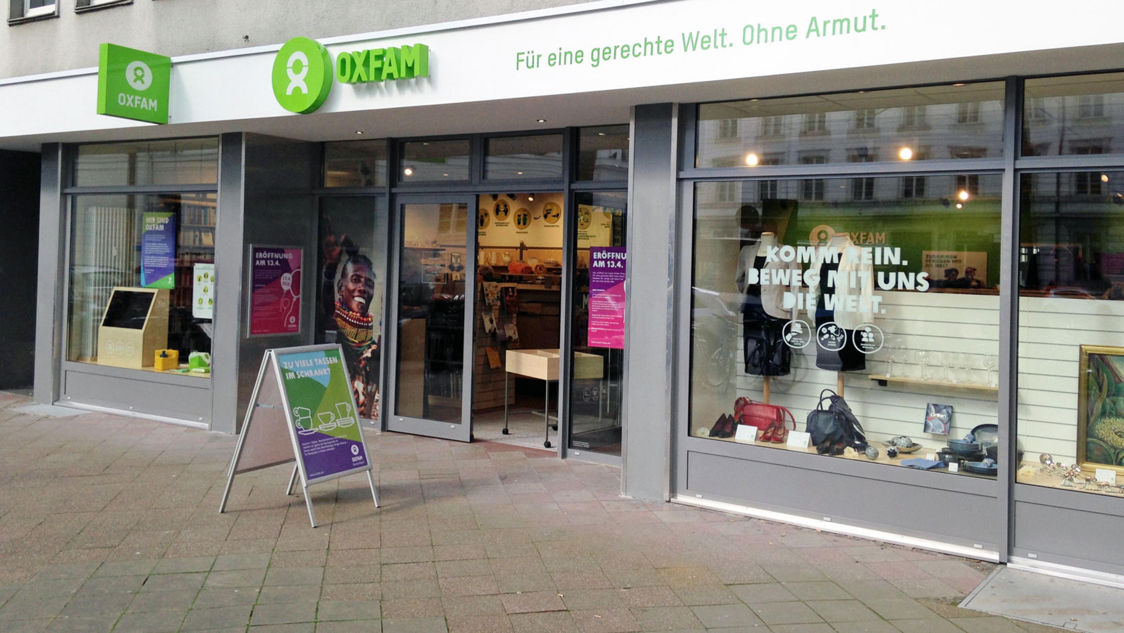 Oxfam Shop Aachen - Außenansicht